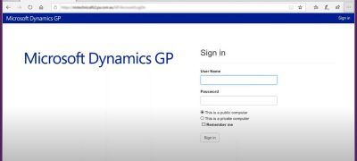 Featured Image Dynamics GP Web Client